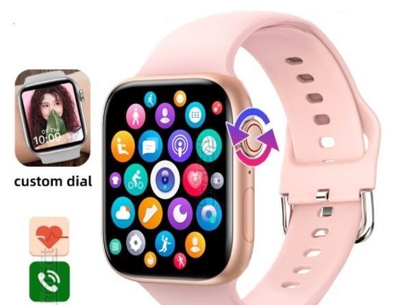 Смарт годинник T500 + Pro Watch 6 series Рожеві в стилі Apple Watch (Smart Watch) Розумні годинник Фітнес браслет