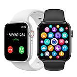 Смарт годинник T500 + Pro Watch 6 series Рожеві в стилі Apple Watch (Smart Watch) Розумні годинник Фітнес браслет, фото 4