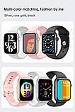 Смарт годинник T500 + Pro Watch 6 series Рожеві в стилі Apple Watch (Smart Watch) Розумні годинник Фітнес браслет, фото 6