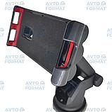 Тримач для телефону автомобільний на лобове скло або торпеду на присоску розсувний, фото 3