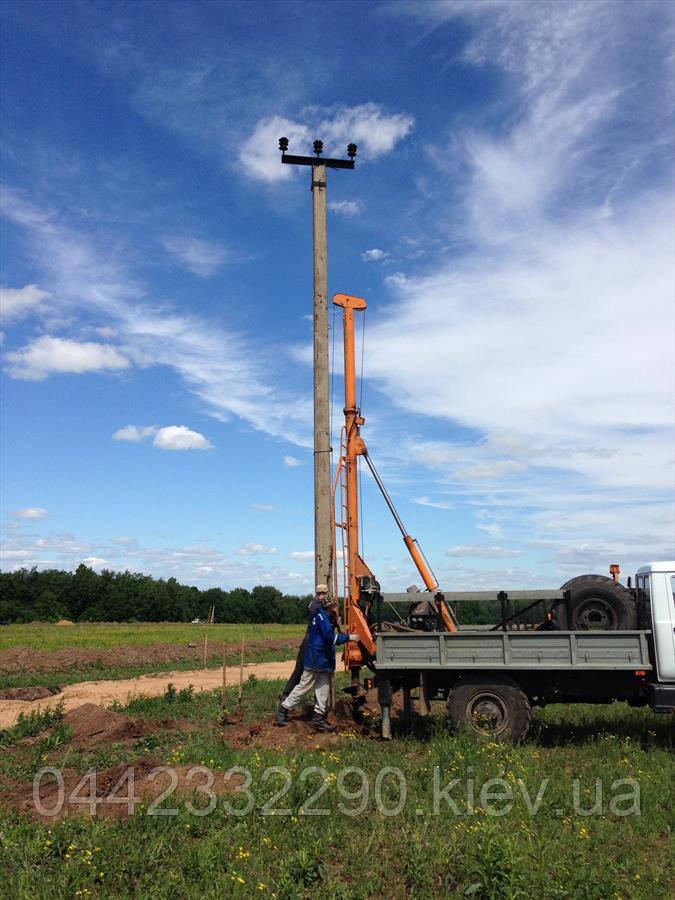 Установка опор линий электропередач в Киеве и области