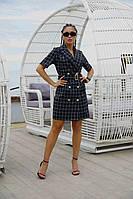 Платье кардиган с поясом деловое летнее офисное молодежное стильное красивое