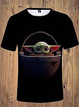 Яркая футболка  размера XL рисунок Baby Yoda Мандалорец Беби Йода The Mandalorian Star Wars Звёздные войны