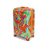 Пластиковый чемодан большой из поликарбоната Airtex Comete 115 л оранжевый, фото 1