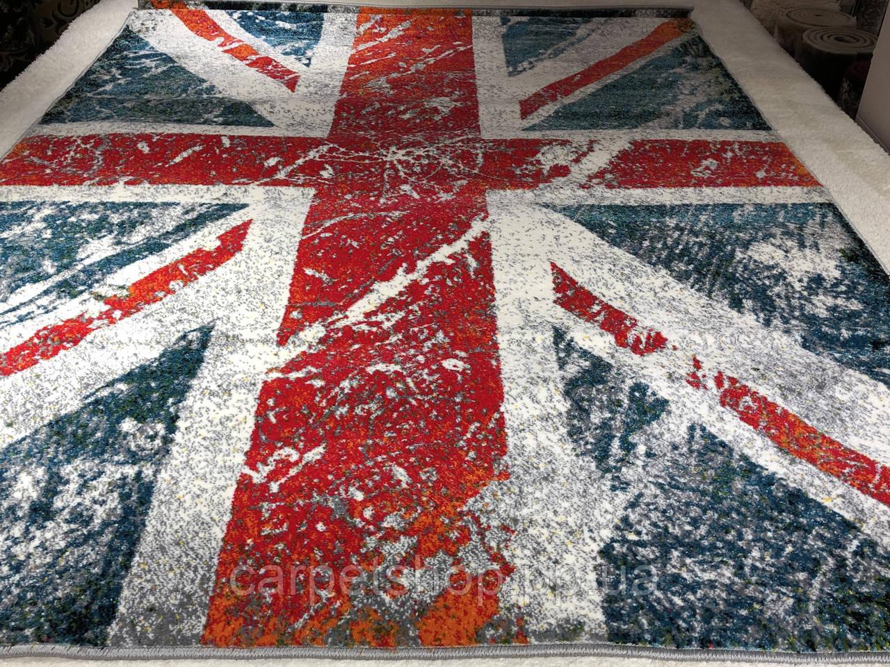 160x230 см, Kolibri 11197/140, килим Британський прапор, виробник Karat Carpet Україна