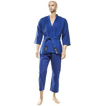 Кімоно дзюдо Combat, синє, 16oz, 120-190 див.