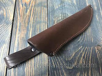 Чехол кожаный под нож нескладной
