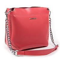Жіноча сумка через плече крос-боді шкіра А. Rai класична сумочка з натуральної шкіри червоного кольору, фото 1