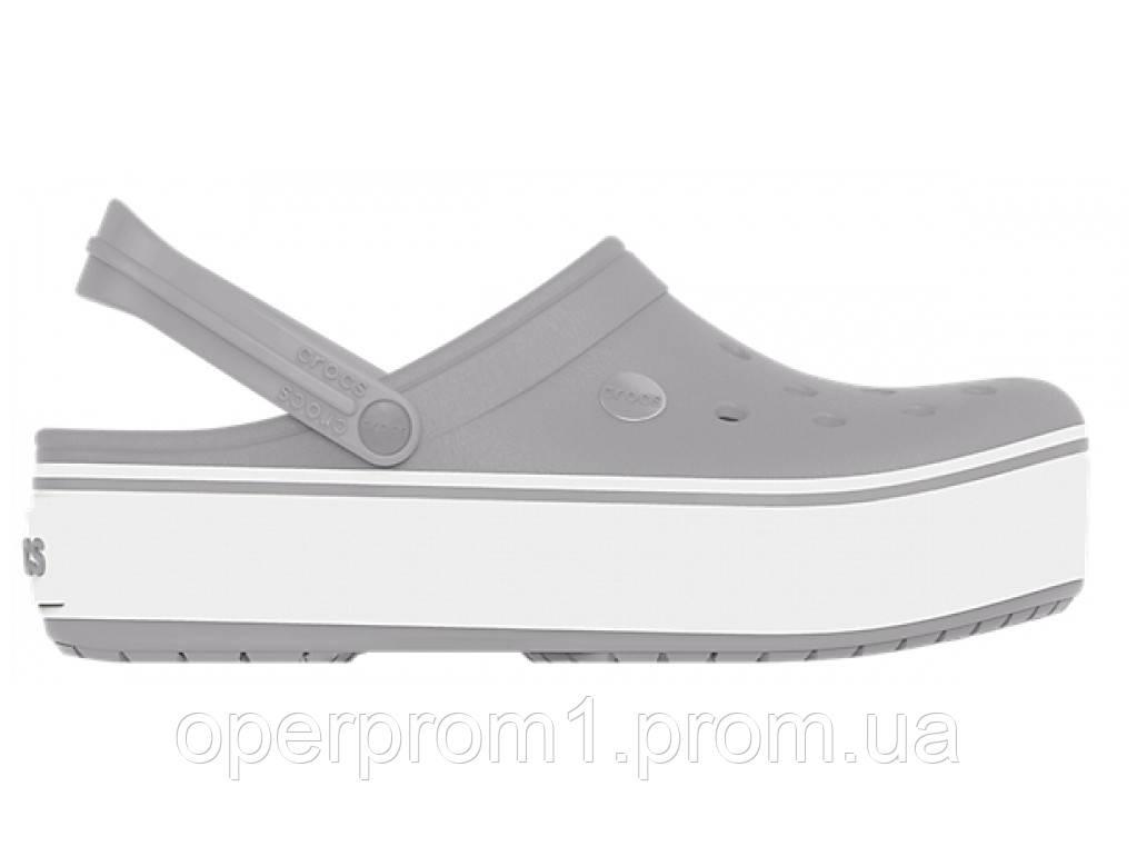 Кроксы сабо Женские Crocband Platform Grey M7-W9 39-40 24,6 см Серый