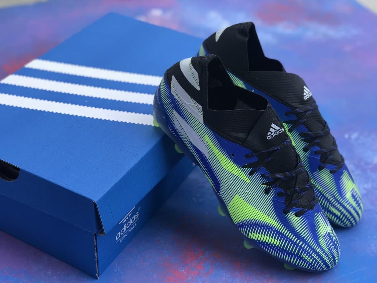 Бутси футбольні Adidas Nemeziz 19.1 Сині