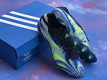 Бутси футбольні Adidas Nemeziz 19.1 Сині, фото 2