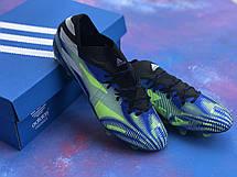 Бутси футбольні Adidas Nemeziz 19.1 Сині, фото 3