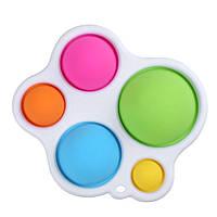 Игрушка антистресс Симпл димпл, Simple dimple большой, пупырки антистресс, брелок сенсорный