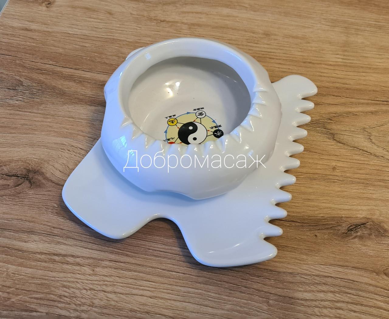 Керамічний гуаша набір чаша блюдце