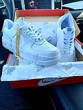 💕 Кроссовки женские  Nike Air Force Pixel White белые кожаные найк эир форс пиксель