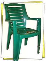 """Кресло пластиковое """"Рекс"""" зеленое"""