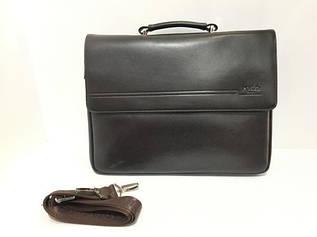 Портфель мужской для документов, выполнен из экокожи, коричневого цвета от POLO 28см-35см-5см