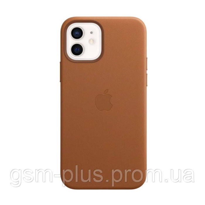 Чехол leather case для iphone 12, iphone 12 pro with magsafe brown
