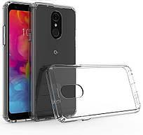 Силиконовый прозрачный чехол для LG Q8