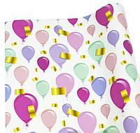 Бумага для уп. подарков -Воздушные шары - 10листов PCZ10070-10-348