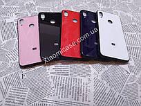 Чехол Стекло Бренд (обод силиконовый) для Xiaomi (Ксиоми) Mi 8