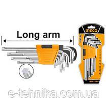 Комплект ключей Torx 9 шт Т10-Т50 INGCO