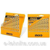 Набор сверл по металлу 19 шт 1-10 мм INGCO
