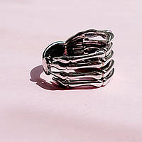 Кольцо серебряное рука скелета 16.5р, фото 1