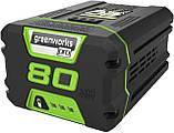 Акумуляторний безщітковий тример (мотокоса) GREENWORKS GD80BCBК2 (1301707) з 2 А.г. 80 В АКБ і ЗП, фото 3