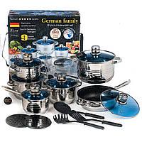 Набор посуды German Family GF-2054 19 предметов   Cковорода керамическое покрытие
