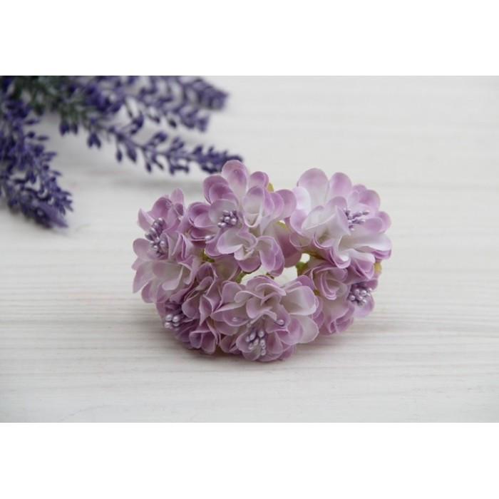 Хризантема , белая с фиолетовым    48 шт