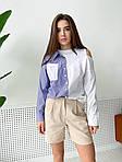 Жіночі шорти, льон, р-р 42-44; 44-46 (беж), фото 2
