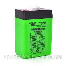 Акумуляторна батарея літієва QSuo 6V 6A з елементами Li-ion 18650 (70X46X100)