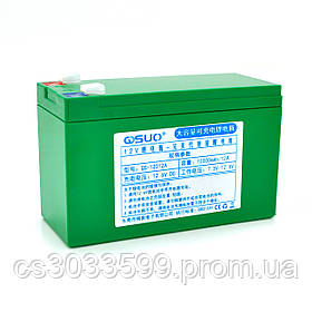 Акумуляторна батарея літієва QSuo 12В 12A з елементами Li-ion 18650 (150X64,5X97,7)