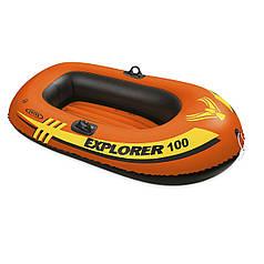 Одноместная надувная лодка Intex 58329 Explorer 100, 147 х 84 см. 2-х камерная
