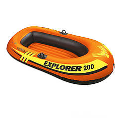 Полутораместная надувная лодка Intex 58330 Explorer 200, 185 х 94 см. 2-х камерная