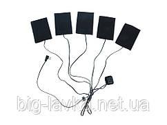 USB Нагрівальні пластини для одягу з кнопкою, 3 режими обігріву 50-60С 5V/2A Чорний