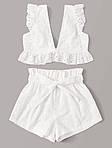 Жіночий костюм, прошва, р-р 40-42; 44-46 (білий), фото 7