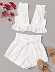 Жіночий костюм, прошва, р-р 40-42; 44-46 (білий), фото 8