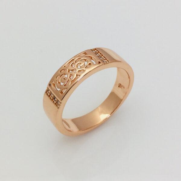 Кольцо под обручальное, позолота 18К , размер  16, 17, 20, 21 мед золото Fallon Jewelry