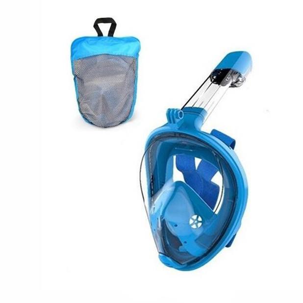 Маска для плавания FY777-1  в сумке (Синий)