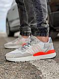 Кроссовки мужские 17301, Adidas Nite Jogger Boost 3M белы, [ 41 43 44 45 46 ] р. 41-25,2см., фото 3