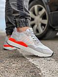Кроссовки мужские 17301, Adidas Nite Jogger Boost 3M белы, [ 41 43 44 45 46 ] р. 41-25,2см., фото 6