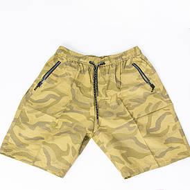 Мужские котоновые шорты до колен в милитари стиле (арт. 23-9657) Песочный, XL