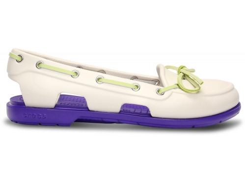 Крокси сабо Жіночі Beach Boat Line Shoe Woman Oyster/Ultraviolet W5 34-35 21,1 см Білий з Фіолетовим