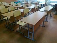 Стол ученический с регулировкой высоты без полки