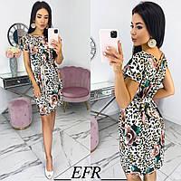 Красивое летнее лёгкое платье сарафан с цветочным принтом S-M (42-44) L-XL (46-48)