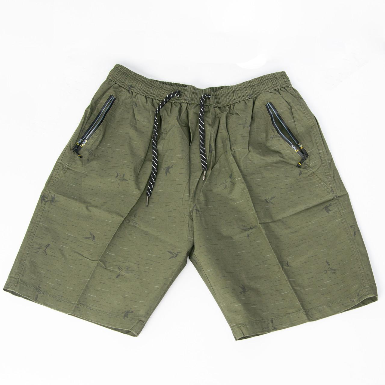 Котонові чоловічі шорти до колін (арт. 23-9656)
