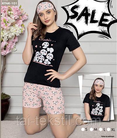 Костюм молодіжний - піжама футболка і шорти бавовна 100% Туреччина № 101, фото 2