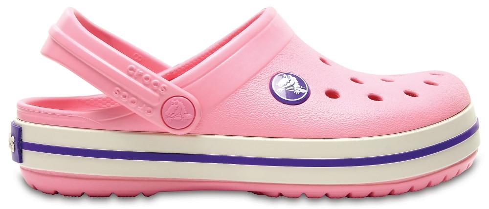 Крокси сабо Дитячі Crocband Kids Peony Pink/Stucco C10 27-28 16,6 см Рожевий